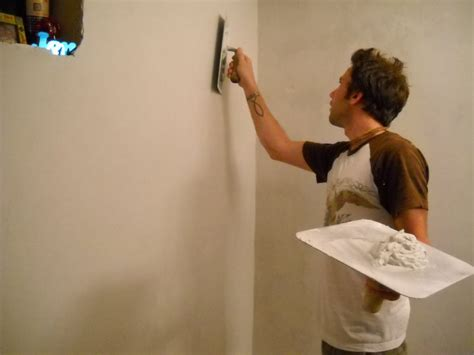 skim plastering how to build an interior wall in your house