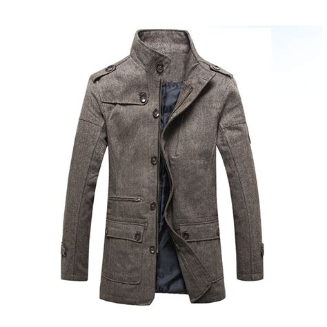 Pea Coat Winter Coat Trench Coat Jacket Coat Coat Pria Blc 8 2016 brand winter pea coat jacket trench coat overcoat jacket jackets and