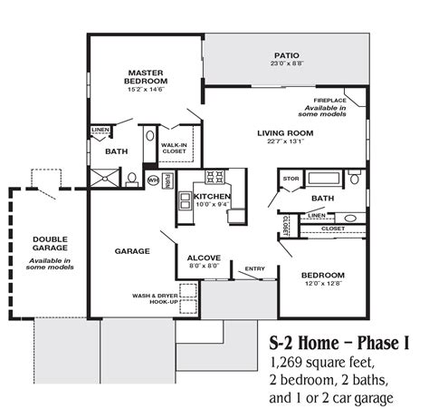 how many square feet is a typical 2 car garage floorplans altavita