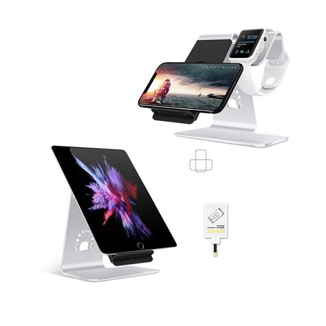 bestand h02 2 in 1 iwatch stand iphone wireless charger stand