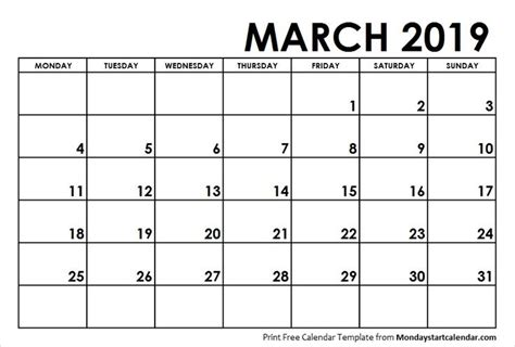march  calendar monday start calendar  calendar january calendar