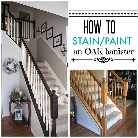 Restaining Banister Rail by Timeless And Treasured Three Diy How To Stain And Paint Oak Stair Banisters Home