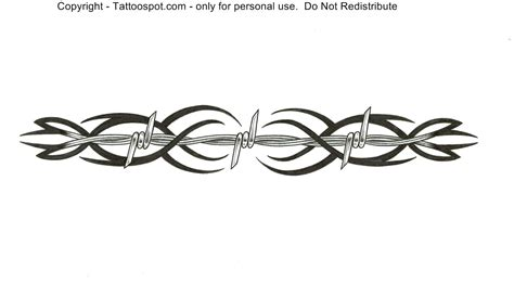 wire tattoo designs barbed wire clipart tribal pencil and in color barbed