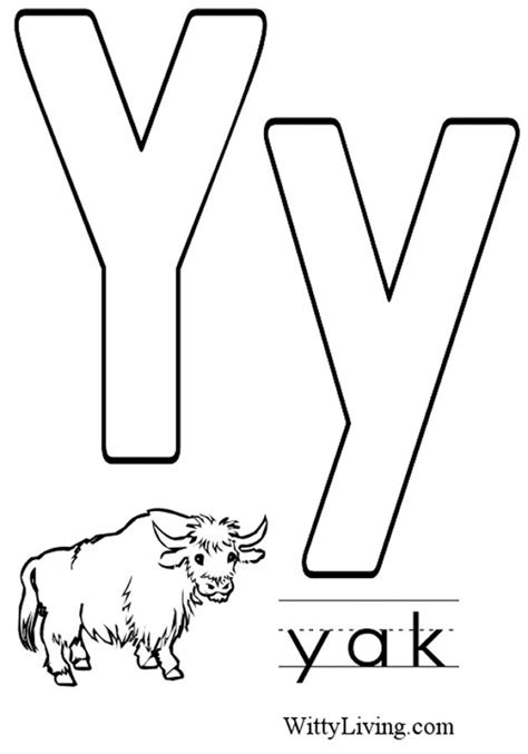 letter y coloring pages pertaining to invigorate in