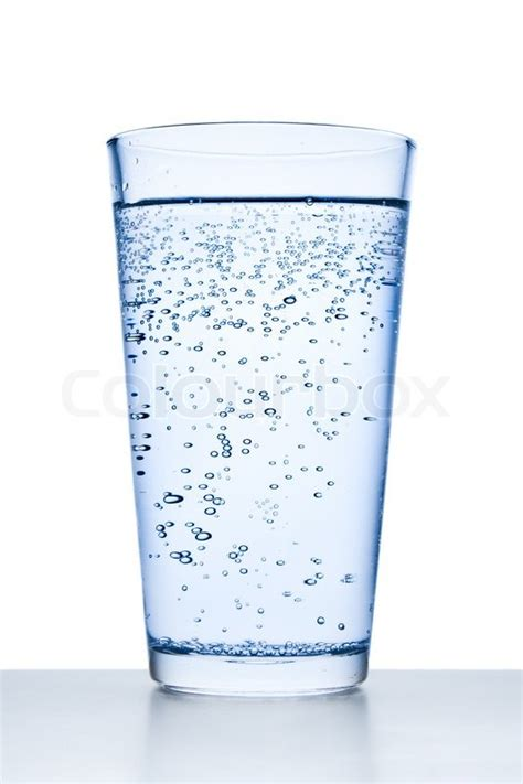 What To Fill Glass With Glass Filled With Water On White Background Stock Photo