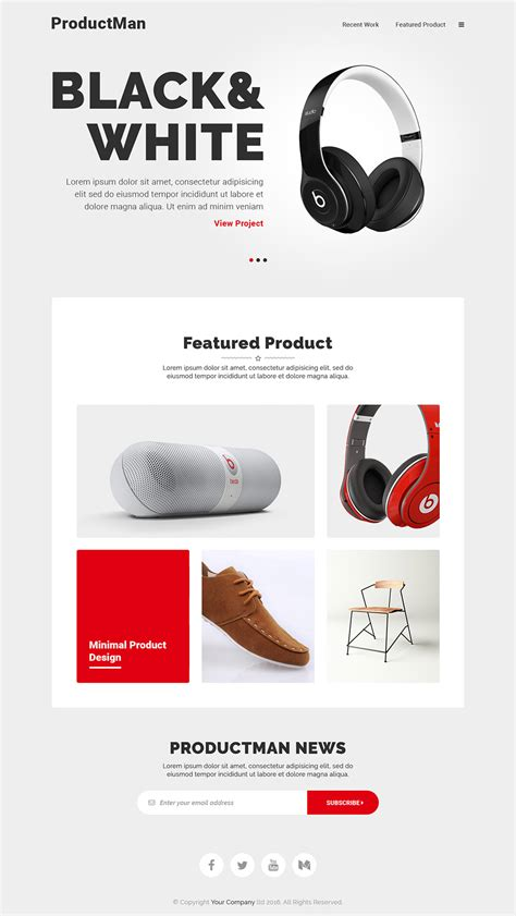 product landing page templates minimalistic product landing page template free psd