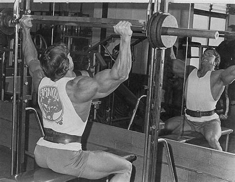 arnie bench press smith machine shoulder press variation bodybuilding com