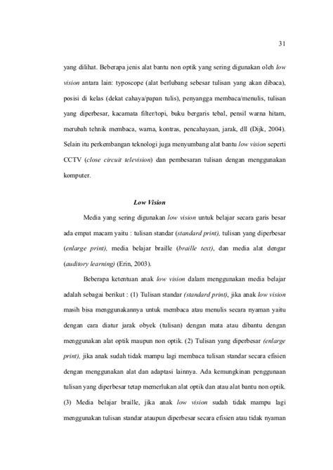 Stand Penyangga Papan Tulis teori tentang low vision