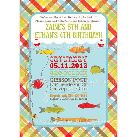 Fishing Printable  Ee  Birthday Ee    Ee  Party Ee   Invite Dimple Prints Shop