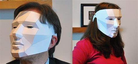 How To Make Scary Masks Out Of Paper - how to make an easy last minute polygon mask for