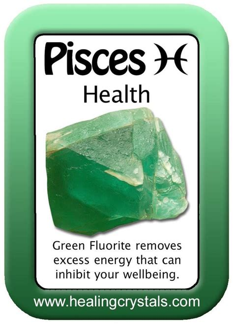 pisces health card green fluorite http www