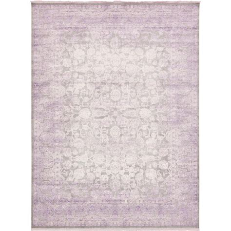 light purple area rug unique loom arcadia light gray and purple 10 ft x 13 ft area rug 3129993 the home depot