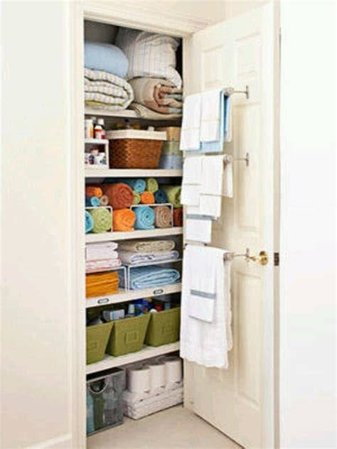 Organizing Bathroom Closet Home Bathrooms Pinterest