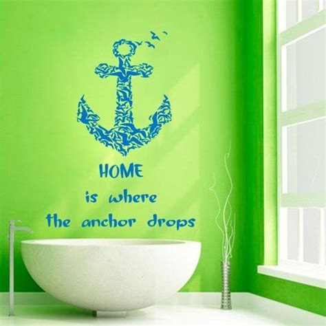 Wall Sticker Stiker Dinding Sea Jm7262 02 anchor wall decals wall quotes home is where the anchor
