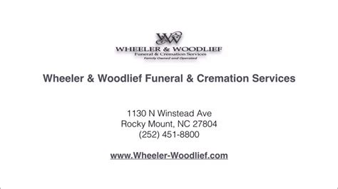 wheeler woodlief funeral home reviews rocky mount nc