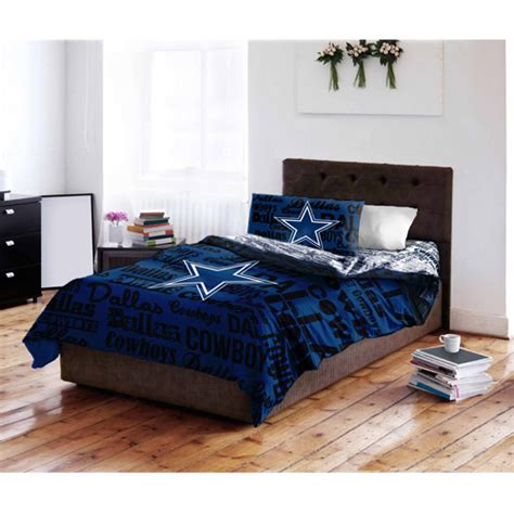 Cowboys Bed Set Nfl Dallas Cowboys Bedding Set Walmart