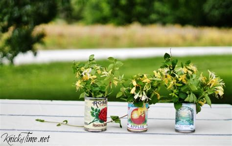 Tin Vases For Flowers by Tin Can Vases Knickoftime Net