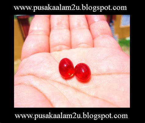 Merah Ross Merah Delima Sepasang pusaka alam ghaib dan mistik batu pancar delima merah air
