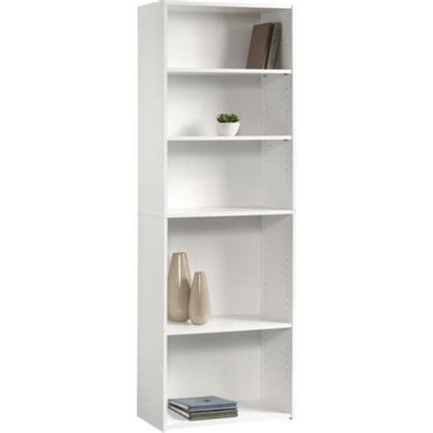 Sauder Beginnings 5 Shelf Bookcase Sauder Beginnings 5 Shelf Bookcase Soft White Walmart Com