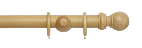 light oak curtain poles rolls woodline 50mm wooden curtain pole light oak