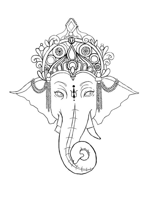 ganesh tattoo template ganesh outline tattoo simple ganesha tattoo christmas