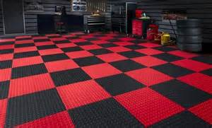 amazing Black And White Kitchen Floor #1: garage-floor-mats-home-depot-red-and-black-chess-style.jpg