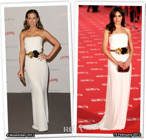 Who Wore Better Carpet Style Awards by Who Wore Gucci Better Kate Beckinsale Or Echegui