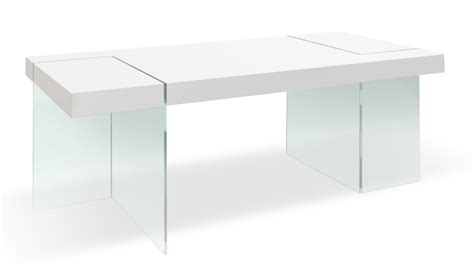 Modern White Glass Dining Table Modern White Lacquer And Tempered Glass Cerise Dining Table Zuri Furniture