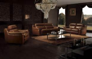 living room with leather ideas living room decor ideas with brown furniture