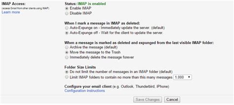 gmail imap server outlook 2013 2016 imap not delete emails in gmail inbox