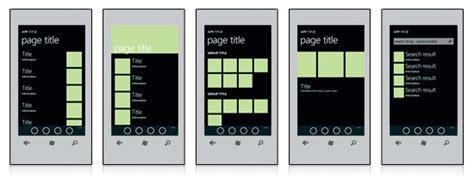 windows app templates design templates for windows phone