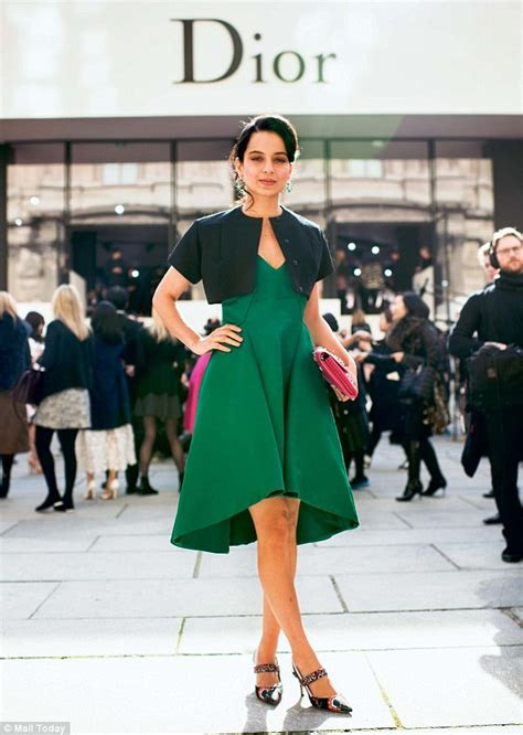 a touch of indian class kangana ranaut is queen of dior