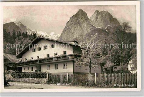 haus werdenfels ak ansichtskarte hammersbach grainau hotel