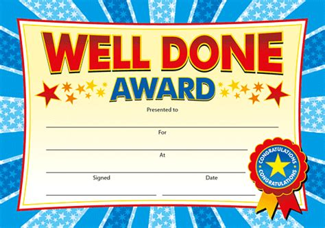 28 well done certificate template well done award