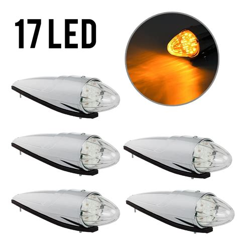 led cab clearance lights 5 17 led semi truck clear roof cab marker