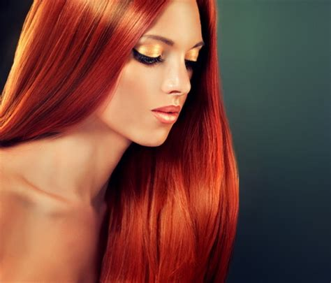 haare von blond auf rot