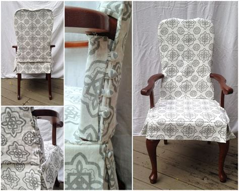 Two Piece Washable Dining Chair Slipcover With Button Dining Room Chair Skirts