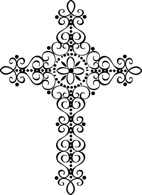 fancy cross tattoos fancy cross clipart 46