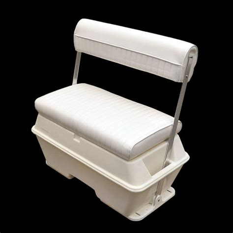 back to back boat seats with storage wise 156 white 70 qt offshore swing back boat storage