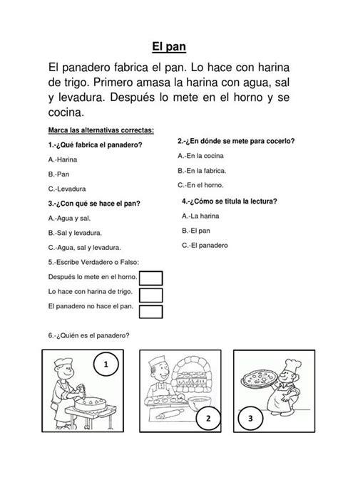 Lectora Para Primer A Tercer Grado De Primaria Material Educativo | el pan comprension lectora para el segundo grado de primaria