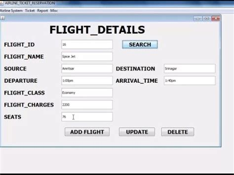 swing source code airline reservation system in java with mysql jdbc