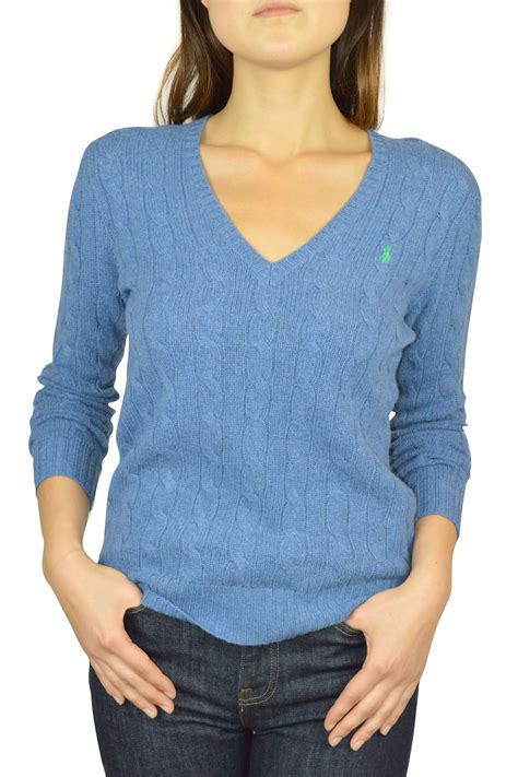 ralph v neck cable knit jumper womens new ralph s cable knit sweater ribbed v neck