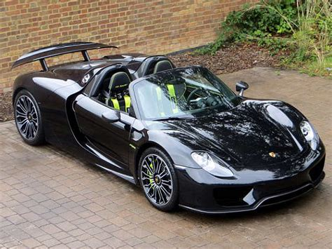 porsche 918 spyder black black porsche 918 spyder for sale in the uk drivespark