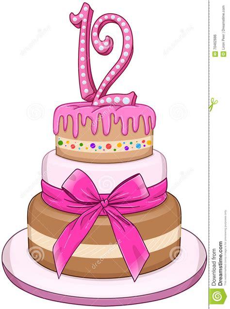 kuchen zum 3 geburtstag rosa schl 228 ger miztvah kuchen f 252 r 12 geburtstag vektor