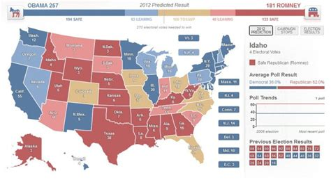 2012 presidential election map opinions on united states presidential election 2012