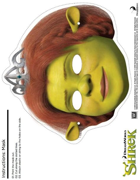 Costumes Mask Ogre Papercraft free shrek printable fiona mask craft likes this