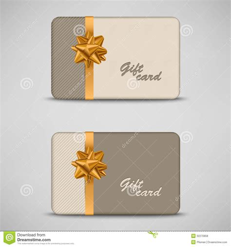 Stripes Gift Card - gift card with stripes and bow royalty free stock photos image 32270858