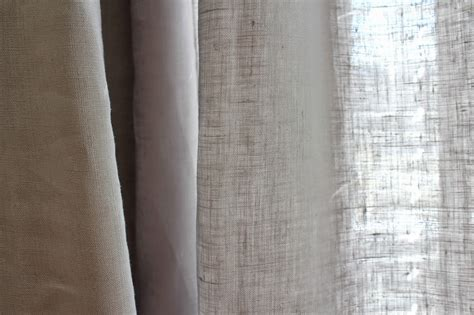 Cup Half Full Linen Curtains