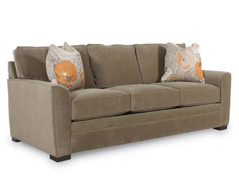 Traditional Queen Sleeper Sofa In Brown Mathis Brothers Traditional Sleeper Sofa
