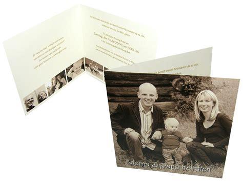 Hochzeitseinladung Fotos by Hochzeitseinladung Mit Foto Family